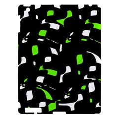 Green, black and white pattern Apple iPad 3/4 Hardshell Case