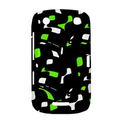 Green, black and white pattern BlackBerry Curve 9380