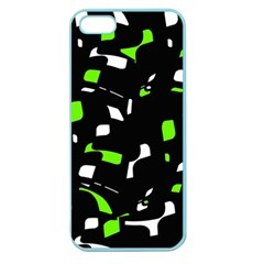 Green, black and white pattern Apple Seamless iPhone 5 Case (Color)