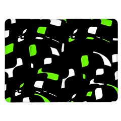 Green, black and white pattern Kindle Fire (1st Gen) Flip Case
