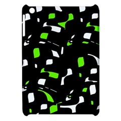Green, black and white pattern Apple iPad Mini Hardshell Case