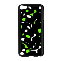 Green, black and white pattern Apple iPod Touch 5 Case (Black)