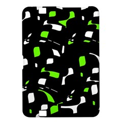 Green, black and white pattern Kindle Fire HD 8.9