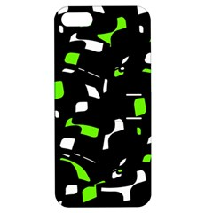 Green, black and white pattern Apple iPhone 5 Hardshell Case with Stand