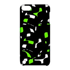 Green, black and white pattern Apple iPod Touch 5 Hardshell Case with Stand