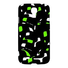 Green, black and white pattern Samsung Galaxy S4 I9500/I9505 Hardshell Case