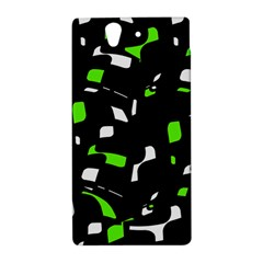 Green, black and white pattern Sony Xperia Z