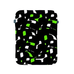 Green, black and white pattern Apple iPad 2/3/4 Protective Soft Cases