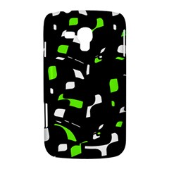 Green, black and white pattern Samsung Galaxy Duos I8262 Hardshell Case