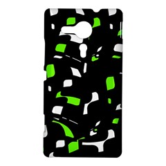 Green, black and white pattern Sony Xperia SP