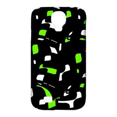 Green, black and white pattern Samsung Galaxy S4 Classic Hardshell Case (PC+Silicone)