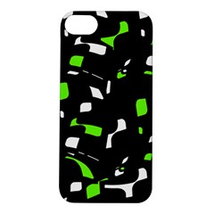 Green, black and white pattern Apple iPhone 5S/ SE Hardshell Case