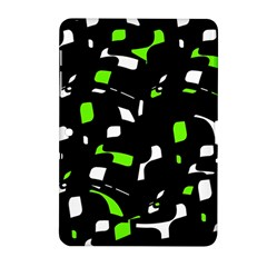Green, black and white pattern Samsung Galaxy Tab 2 (10.1 ) P5100 Hardshell Case