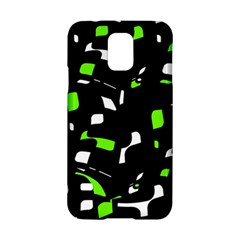 Green, black and white pattern Samsung Galaxy S5 Hardshell Case