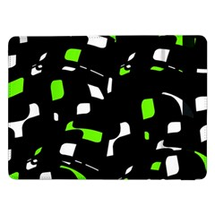Green, black and white pattern Samsung Galaxy Tab Pro 12.2  Flip Case