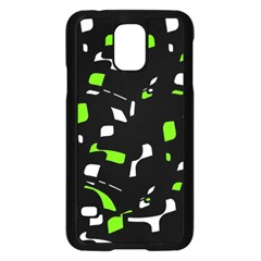 Green, black and white pattern Samsung Galaxy S5 Case (Black)