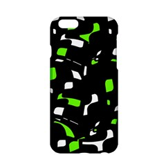 Green, black and white pattern Apple iPhone 6/6S Hardshell Case