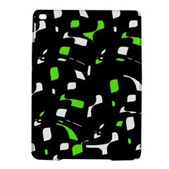 Green, black and white pattern iPad Air 2 Hardshell Cases