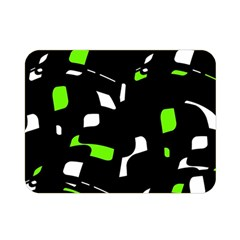 Green, black and white pattern Double Sided Flano Blanket (Mini)