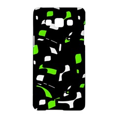 Green, black and white pattern Samsung Galaxy A5 Hardshell Case