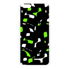 Green, black and white pattern Apple Seamless iPhone 6 Plus/6S Plus Case (Transparent)