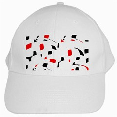 White, red and black pattern White Cap