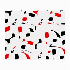 White, red and black pattern Small Glasses Cloth
