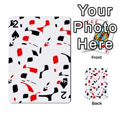White, red and black pattern Playing Cards 54 Designs