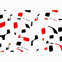 White, red and black pattern Collage Prints