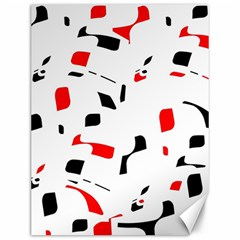 White, red and black pattern Canvas 12  x 16