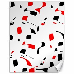 White, red and black pattern Canvas 18  x 24