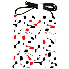 White, red and black pattern Shoulder Sling Bags
