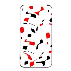 White, red and black pattern Apple iPhone 4/4s Seamless Case (Black)
