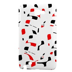 White, red and black pattern Samsung Galaxy Note 1 Hardshell Case