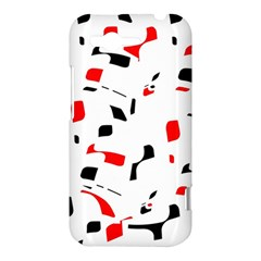 White, red and black pattern HTC Rhyme