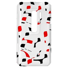 White, red and black pattern HTC Evo 3D Hardshell Case