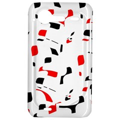 White, red and black pattern HTC Incredible S Hardshell Case