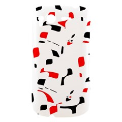 White, red and black pattern HTC Desire S Hardshell Case