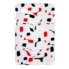 White, red and black pattern Samsung Galaxy Tab 7  P1000 Hardshell Case