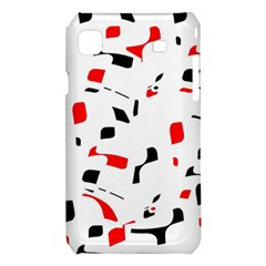 White, red and black pattern Samsung Galaxy S i9008 Hardshell Case
