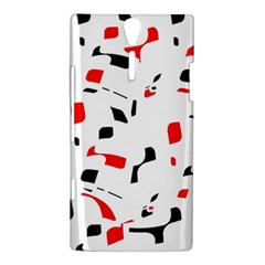 White, red and black pattern Sony Xperia S