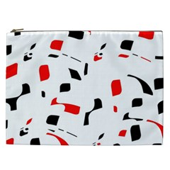 White, red and black pattern Cosmetic Bag (XXL)