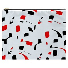 White, red and black pattern Cosmetic Bag (XXXL)