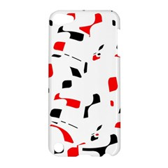 White, red and black pattern Apple iPod Touch 5 Hardshell Case