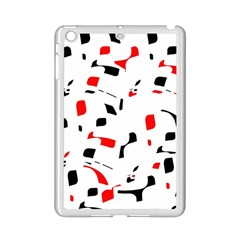 White, red and black pattern iPad Mini 2 Enamel Coated Cases