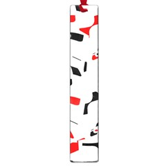 White, red and black pattern Large Book Marks