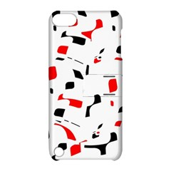 White, red and black pattern Apple iPod Touch 5 Hardshell Case with Stand