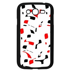 White, red and black pattern Samsung Galaxy Grand DUOS I9082 Case (Black)