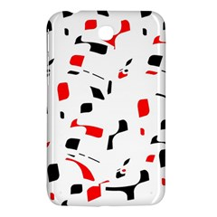White, red and black pattern Samsung Galaxy Tab 3 (7 ) P3200 Hardshell Case