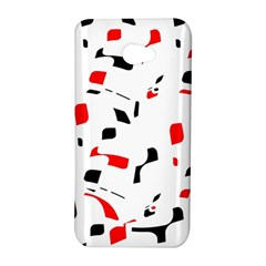 White, red and black pattern HTC Butterfly S/HTC 9060 Hardshell Case